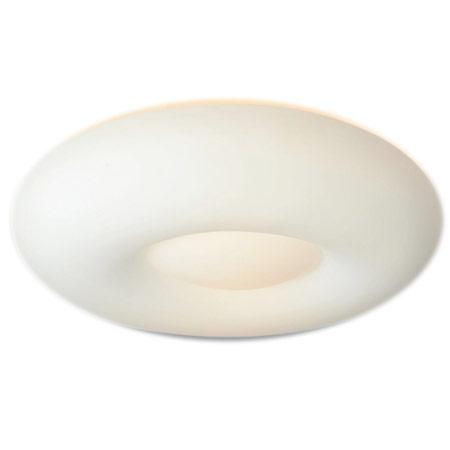 Oval plafón de techo opalina 47 cm.2 luces Led E27