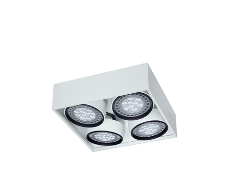 Box plafon de techo 4 luces Ar111 Led