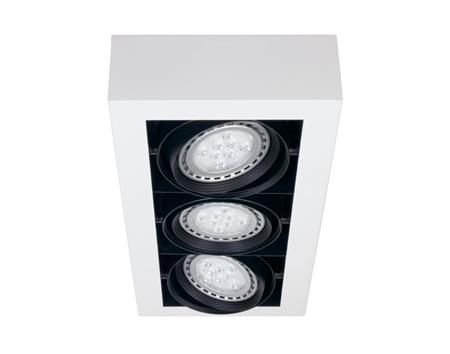 Space plafón de techo 3 luces AR111 Led